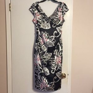 Maggy London black print dress   Size 14